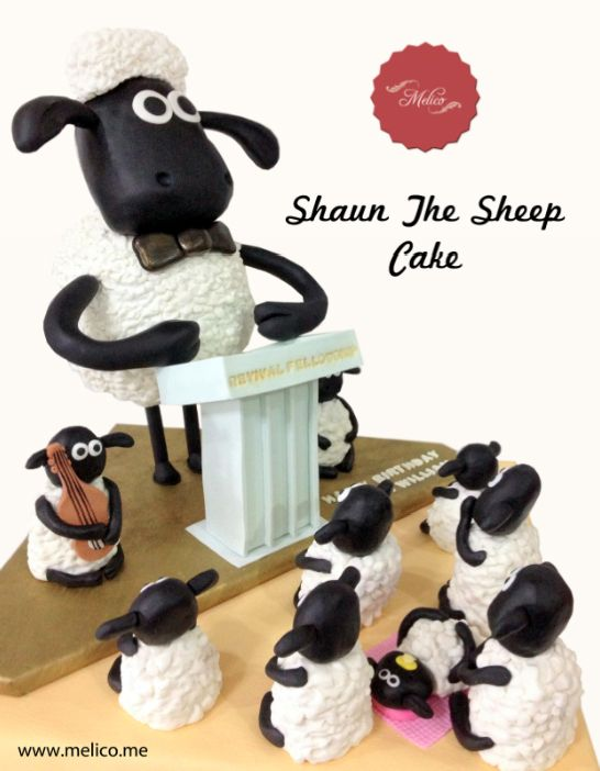 3D Cake - Shaun The Sheep Cake. #3dcake #cake #ediblecake #sculptedcake #noveltycake #birthdaycake #kidsbirthday #sugarart -- Like and Follow us #melicobali (Instagram) || www.melico.me