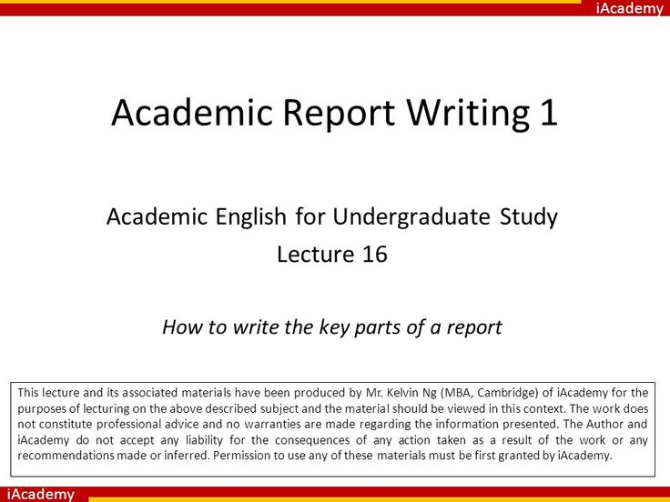 How To Write A Presentation Report - Opinion of professionals