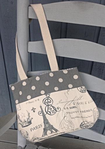Paris #handbag, Effiel tower purse, shoulder strap purse, gray purse by #OnceUponARoll for $45.00