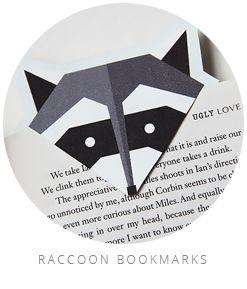 raccoon bookmarks