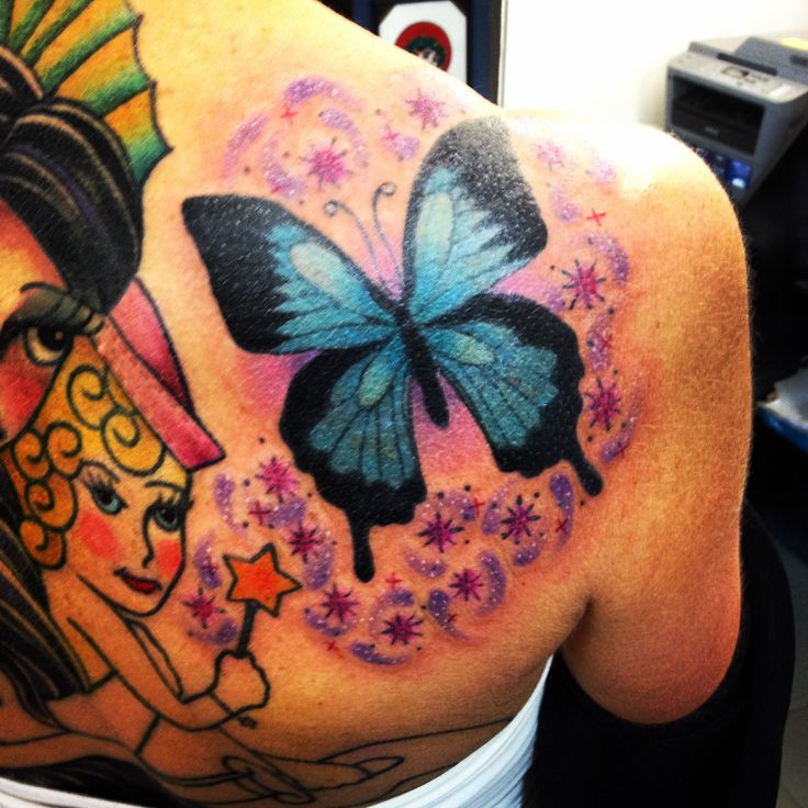 """Ulysses butterfly coloured. Complete with """"Tinkabell"""" fairy dust from Jinxys star wand.."""