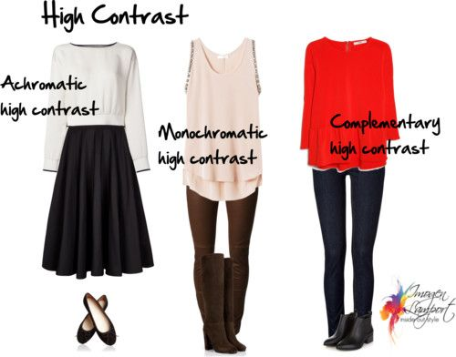 Colour contrast tells you how to put colours together for you to wear in outfits that flatter your natural colouring. Should you wear neutrals or colours?