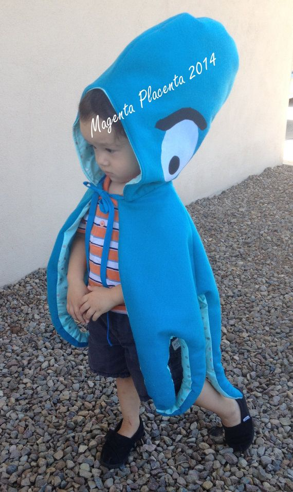 Children's Hooded Octopus Costume by magentaplacenta on Etsy, $60.00