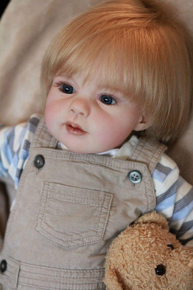 Toddler Boy Long Blonde Hair Surfer: Reborn Toddler Boy Luke By Puddin'cake Babies