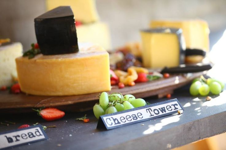a cheese tower makes for a great welcome snack at the wedding reception, served with fresh breads and pâté was very popular