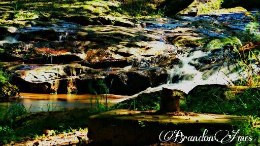 Water rapids stream