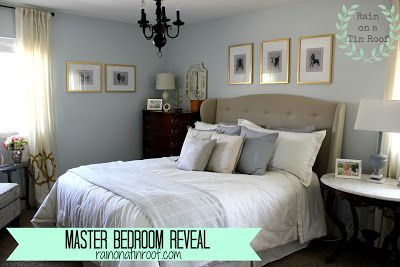 Master Bedroom Makeover Reveal  rainonatinroof.com