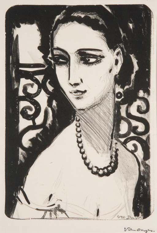 'Le Collier de Perles' (The Pearl Necklace) by Kees van Dongen, ca. 1925