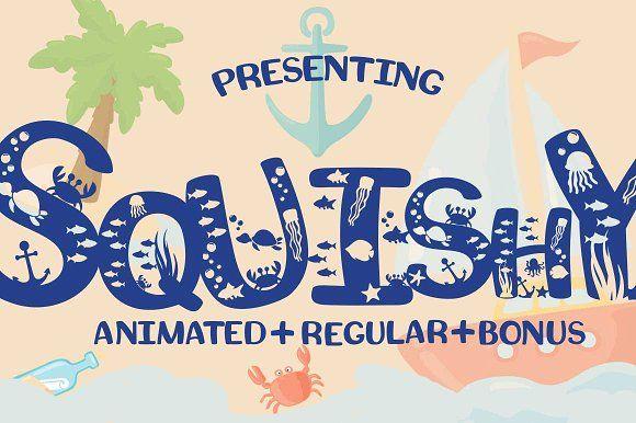Squishy - A Fun Beach Font by Anastasia Feya on