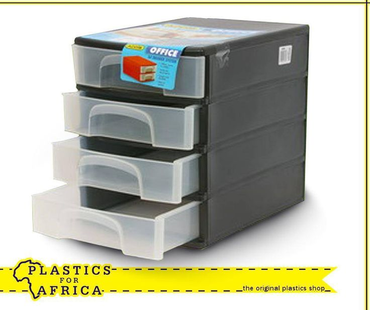 Keep all your documents, stationery and other accessories organised with this A4 4 Drawer system. Available from your nearest #PlasticsforAfrica store.