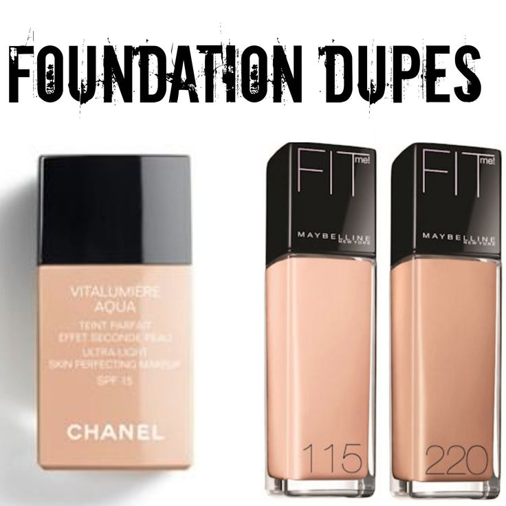 FOUNDATION DUPES | Chanel VS Maybelline