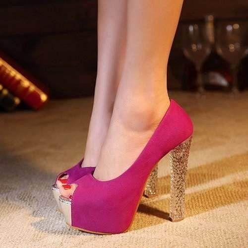sapato plataforma feminina salto alto importado!