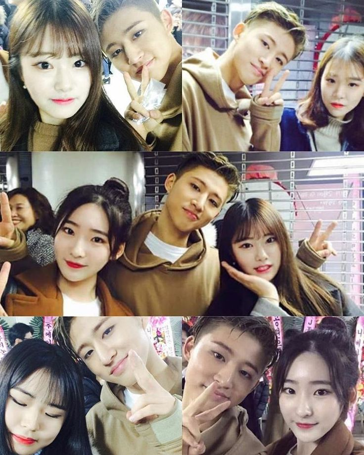 """""""Hanbin with members' sister's friends @ iKONCERT backstage ( These girls are so lucky!I'm so envious of them... ) 我不羨慕,不嫉妒。。。真的。。。韓國美眉怎麼都那麼漂亮呀(*´>д<)…"""""""