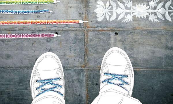 Ludowadla - shoelaces inspired by wycinanki (paper cutting) of Koszalin, Poland