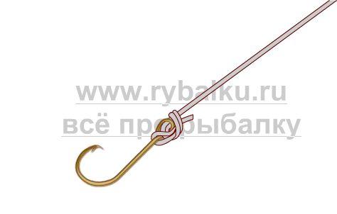 рыболовные узлы - как привязать крючок Паломар картинка 4