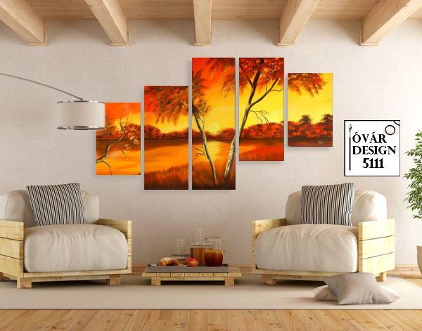 Hangulatos tájképek, otthonod dekorálására. Kézzel festett vászonképek széles választékban az Óvárdesign webáruháztól
