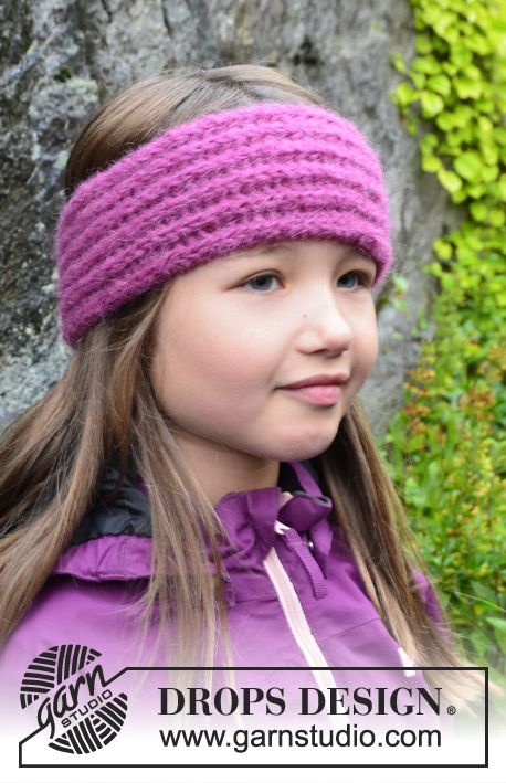 Alpaca Headband Knitting Pattern : Free pattern: Knitted DROPS head band with English rib in 2 strands