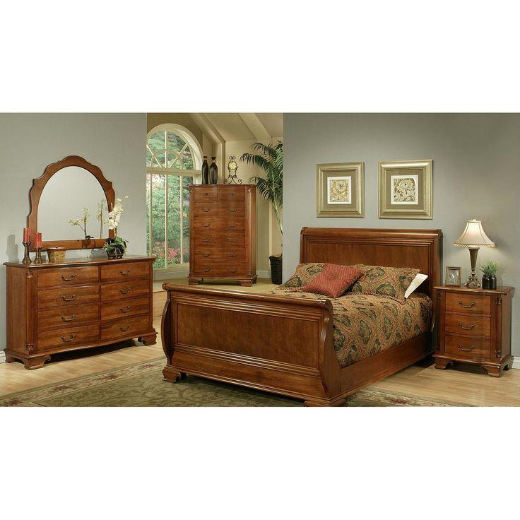AYCA Furniture American Heritage Sleigh Customizable Bedroom Set U0026 Reviews  | Wayfair