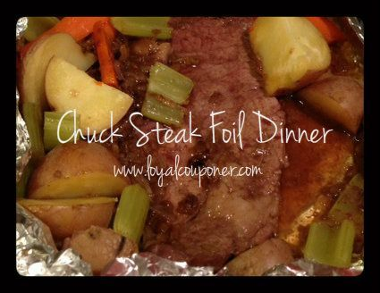 Chuck Steak Foil Dinner-easy and delicious!