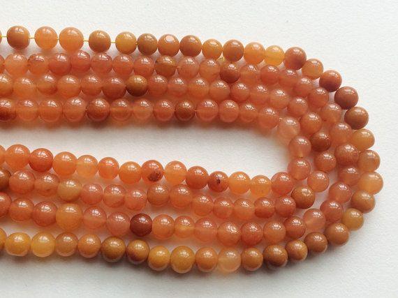 Moonstone Peach Orange Moonstone Beads Orange by gemsforjewels