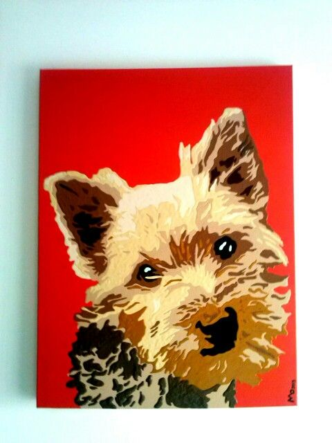 DOG PAINTS FEOM YOUR OWN PET IMAGE !!