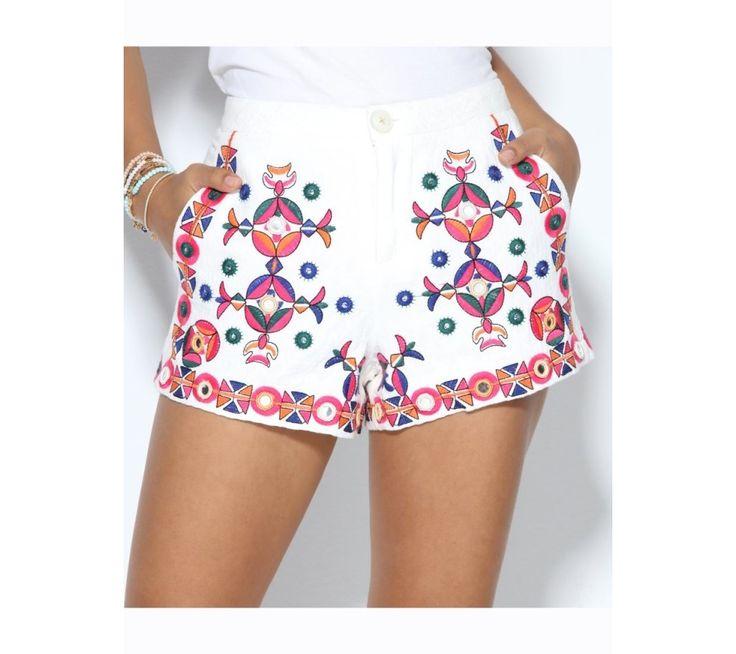 Šortky s výšivkou a zdobením | modino.sk #modino_sk #modino_style #style #fashion #sortky #kratasy