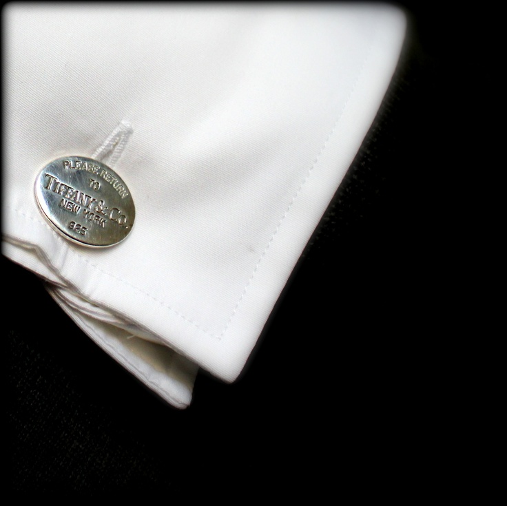 Tiffany cufflinks for the well-dressed groom.