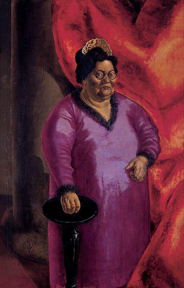 Otto Dix, Bildnis der Kunsthändlerin Johanna Ey, 1924, Öl auf Leinwand