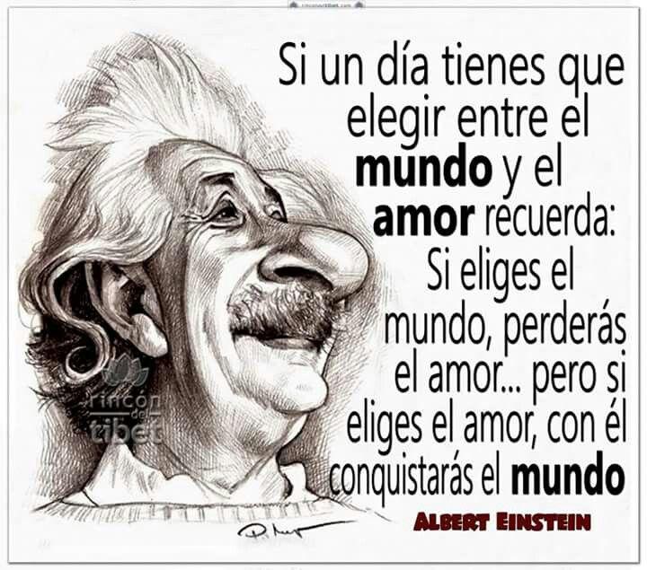 Si un día tienes que elegir entre el mundo y el amor...
