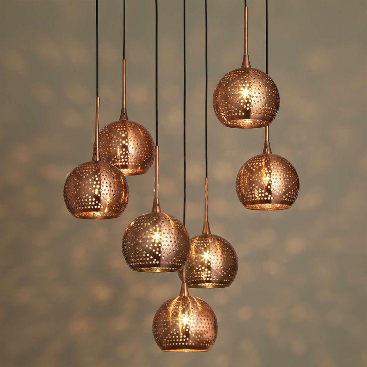 John Lewis Simba Dangles Cluster Ceiling Light, 7 Light