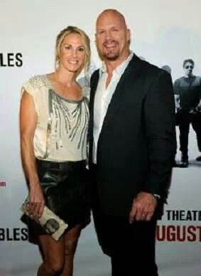 Stone Cold Steve Austin and his wife, Kristin Austin.