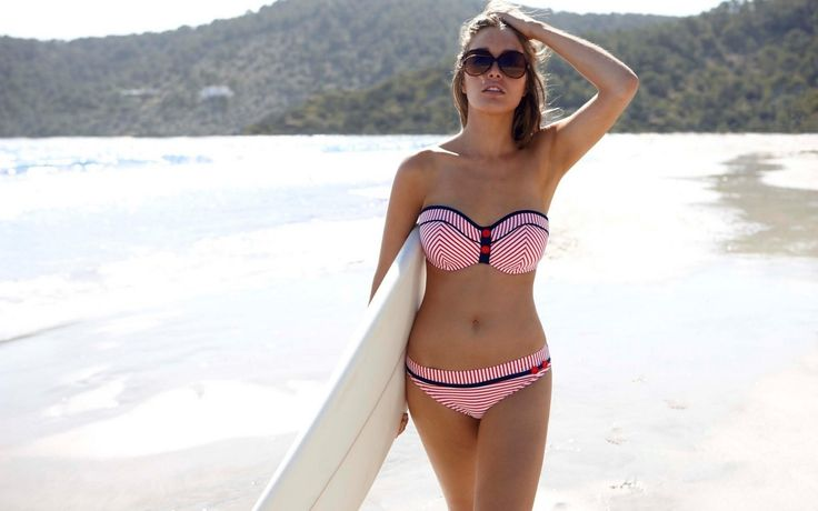 surf beach girl image