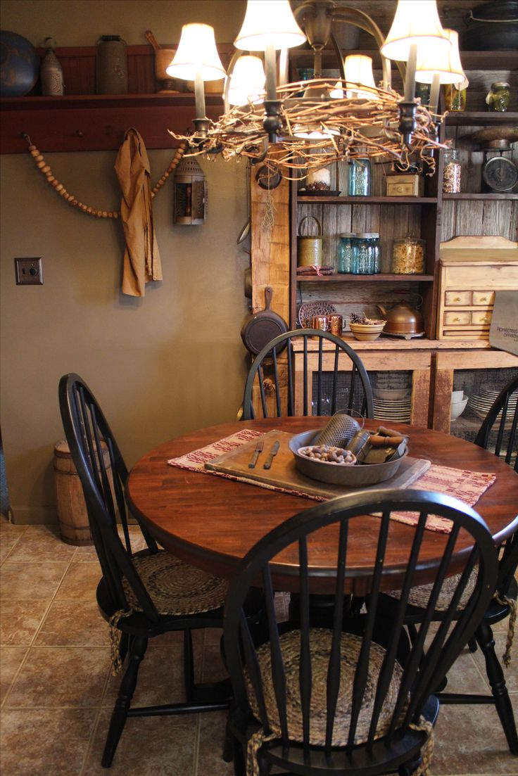 212 best Kitchen/Dining Room Rustic Primitive Farmhouse Vintage ...