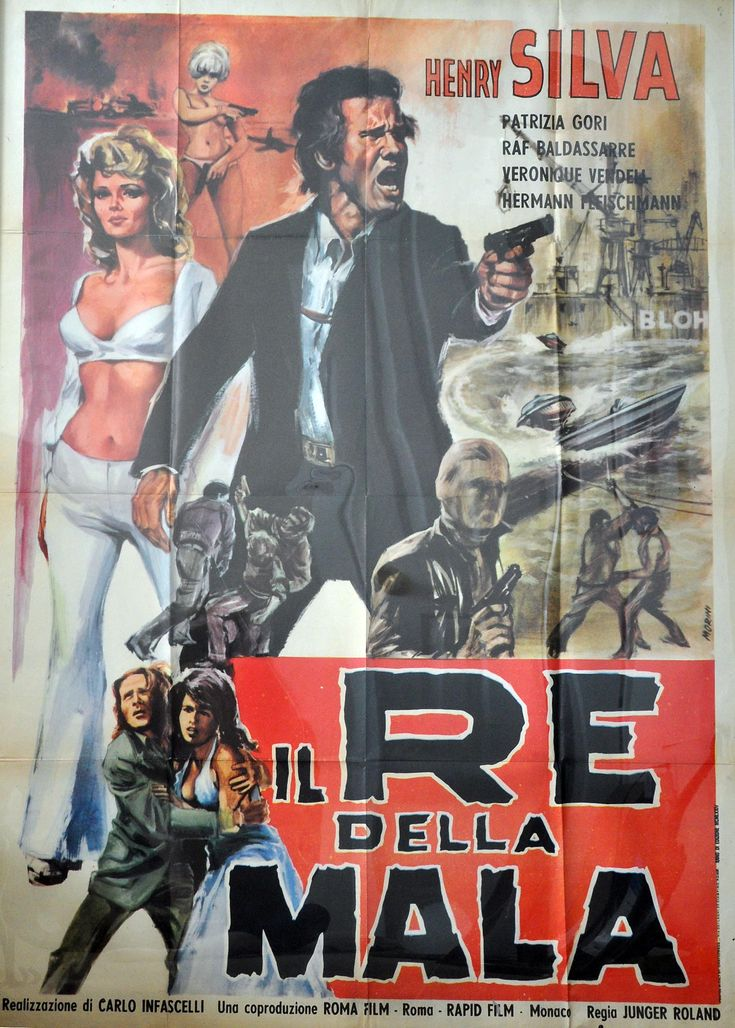 Italian 2 panel  movie poster for Battle Of The Godfathers with Henry Silva