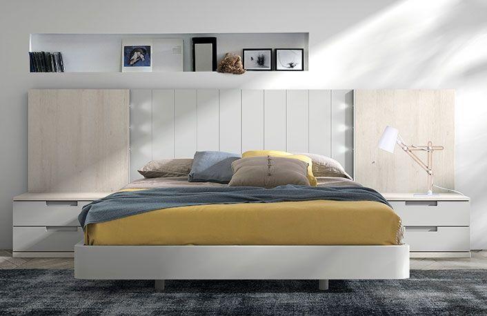 Dormitorio moderno nordico gris