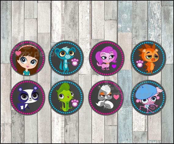 Littlest Pet Shop Chalkboard Toppers instant download, Printable Littlest Pet Sh… – Products