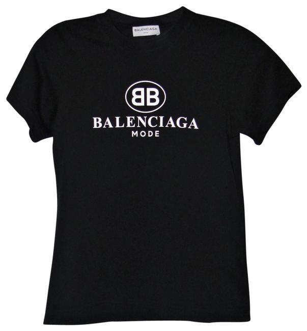 ceca14f3383 Balenciaga Black Fabulous Mode Logo-print Cotton T-shirt Tee Shirt Size 2 (