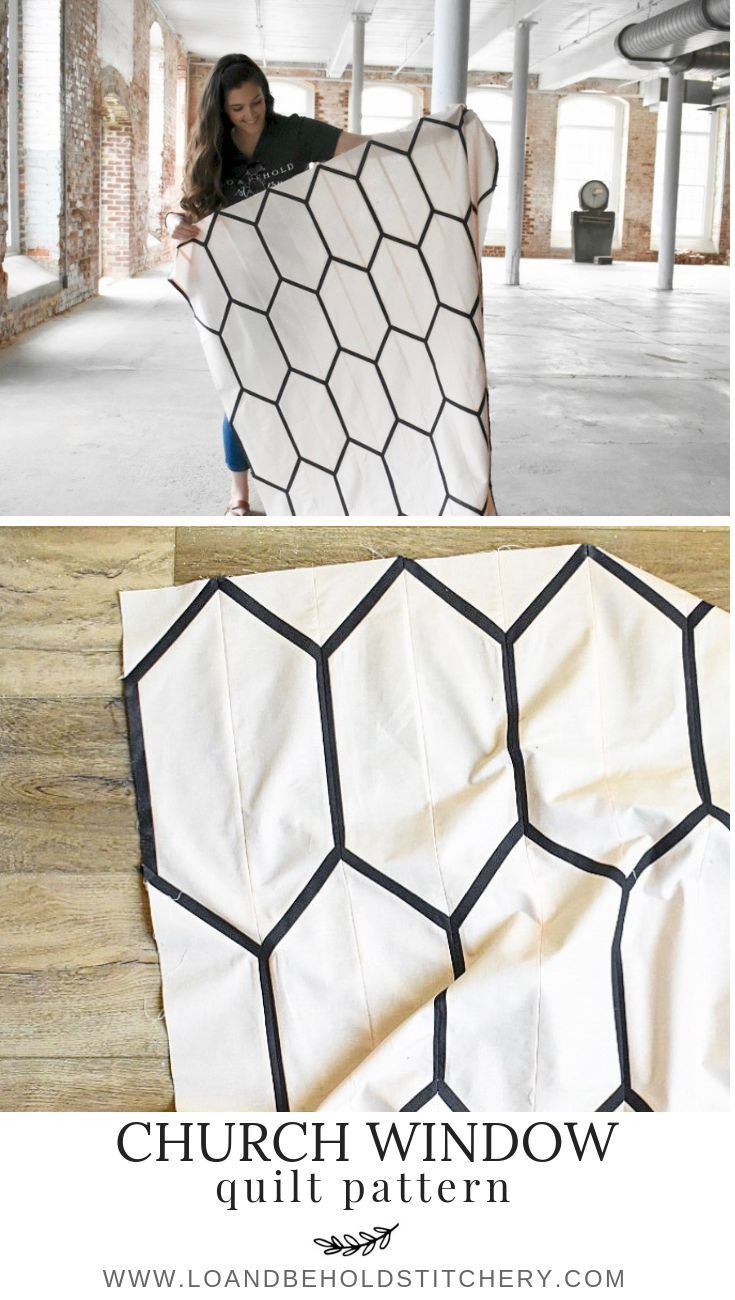 Church Window Modern Quilt Patterns Hexagon Quilt Tutorial Geometric Quilt