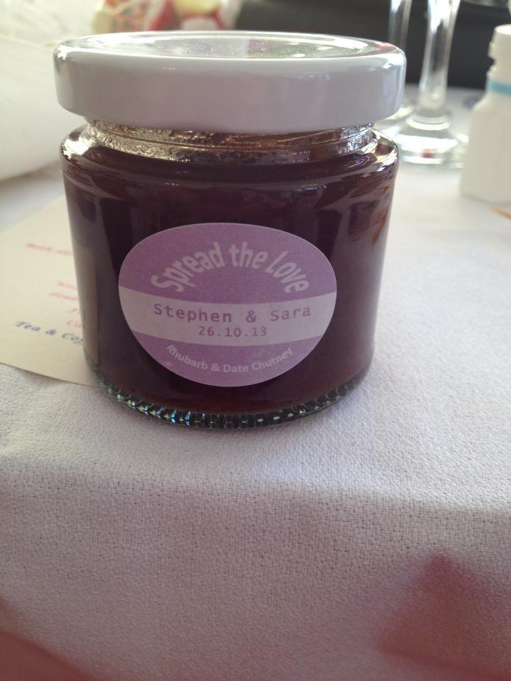 Bon boniere  Vintage wedding Jam favours Pastel