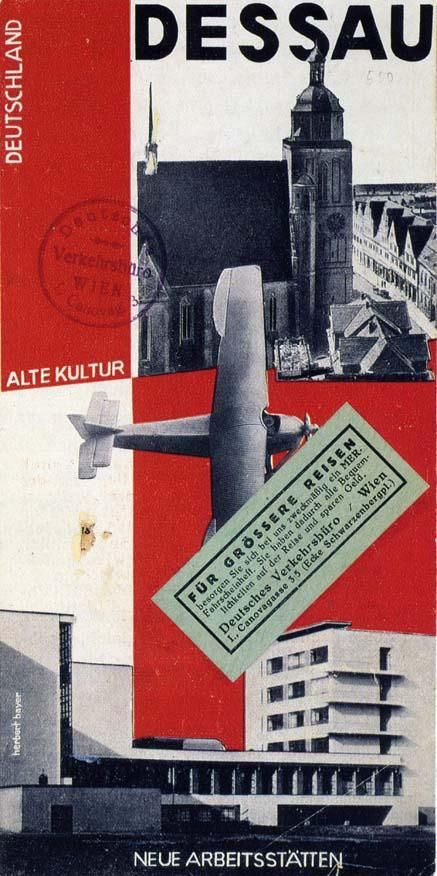 Herbert Bayer | Herbert Bayer, cover for brochure issued by Dessau tourist office ...