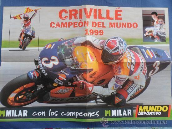 Poster del Diario Mundo deportivo del campeón del mundo 1999 Crivillé