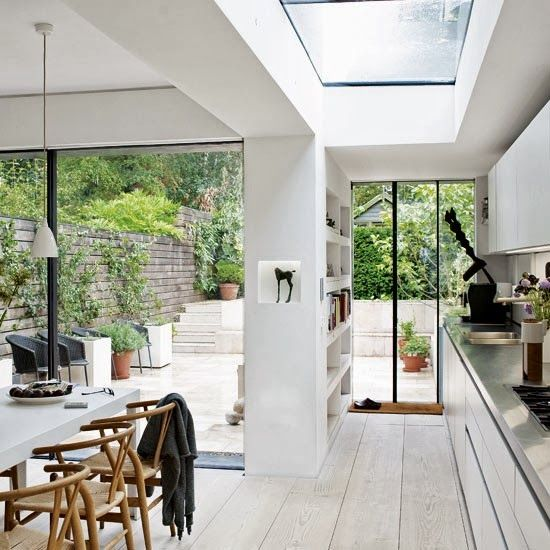 A white and wintry London townhouse