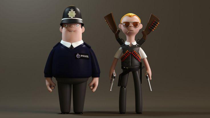 Seth Watkins / Hot Fuzz #3D #render #character