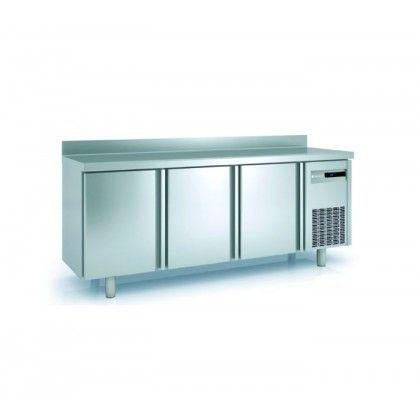 Mesa Fría SNACK MRS-200 Coreco. - Exterior en acero inox AISI-304 18/10, a excepción del respaldo. Puertas de apertura reversible