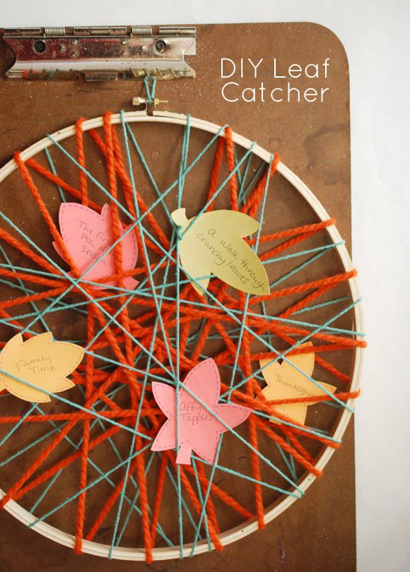DIY Leaf Catcher from handmade charlotte