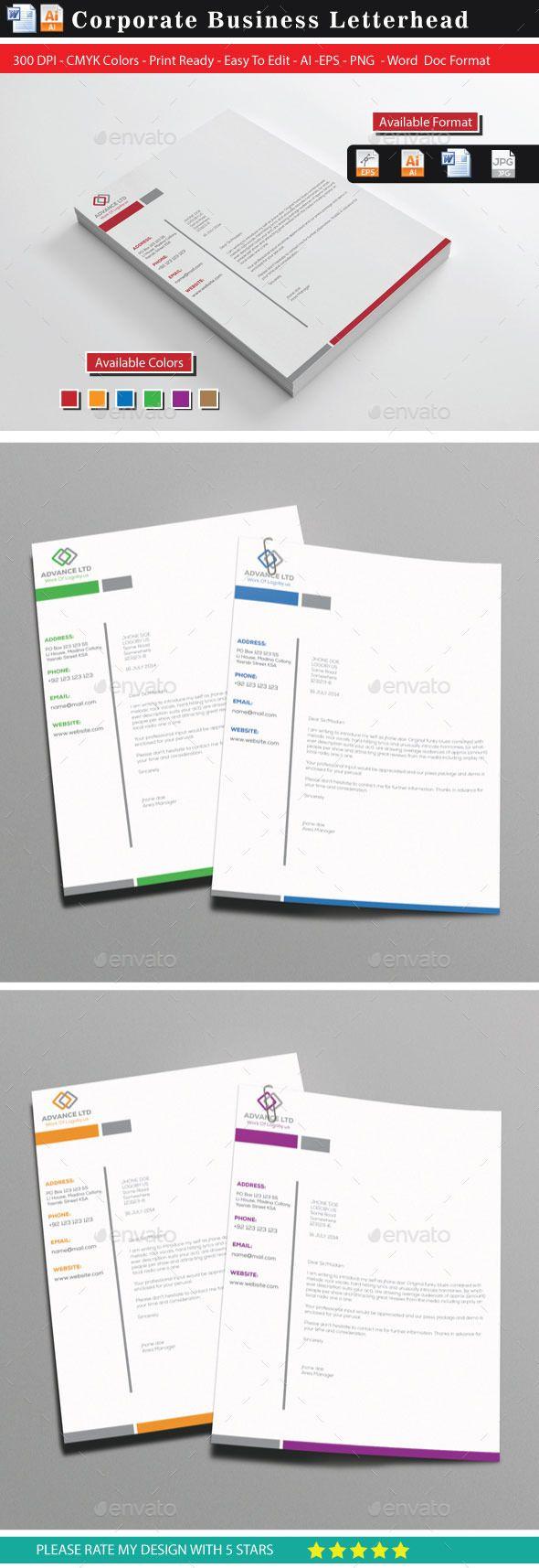 20 Advance Letterhead Design 25 best Letterhead