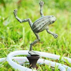 """New for Spring 2014 at Ravenswood Gifts this whimsical """"Dancing Frog Hose Guard"""" from SPI. No more damaged perennial beds! Opening first week of May! Hope to see you!"""