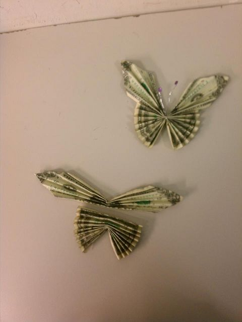 graduation butterflies made of (2) bills for Leis via Flickr