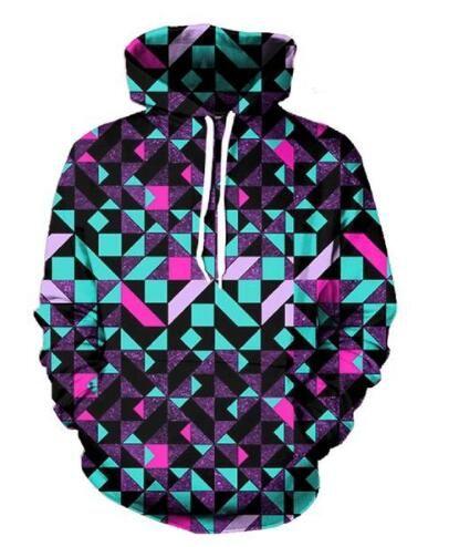 diamond Sweatshirt 3D Print Spring Autumn Long Sleeve Hoodies Crewneck Women/Men Fashion Clothing Pullover Streetwear