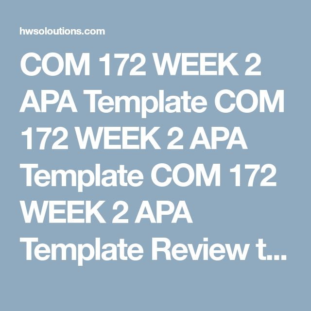 Best  Apa Template Ideas On   Apa Format Template